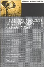 Cover of the journal Financial Markets and Portfolio Management